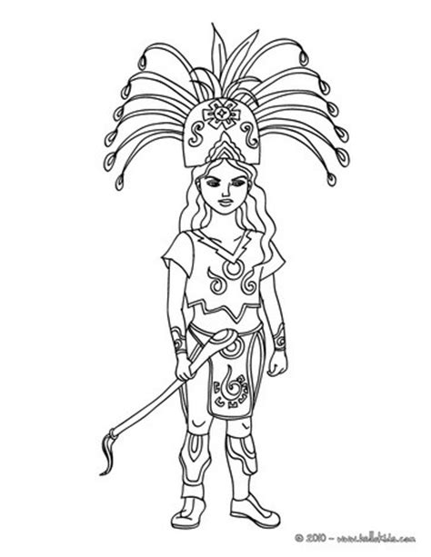 Maya Printable Coloring Pages Mayan Coloring Pages