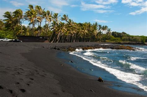 picture photo black sand beach at punaluu big island image gallery punaluu