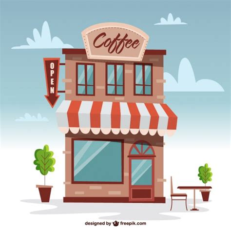 Windshield Mini Vector Sectbill building coffee shop vector free