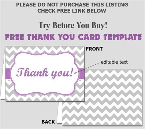 Thank You Note Card Templates Word by Free Folded Thank You Card Template Diy Editable