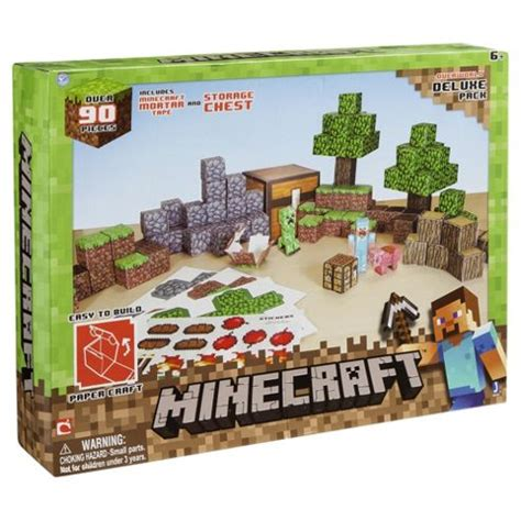Minecraft Papercraft Overworld Set - buy minecraft papercraft overworld set from our model kits
