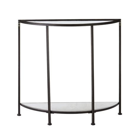home decorators console table home decorators collection aged bronze demilune