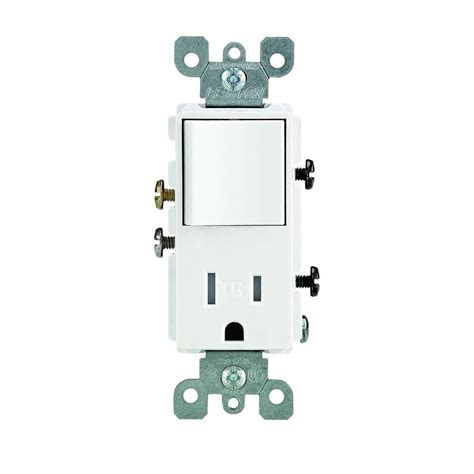 light switch outlet combo leviton decora 15 amp ter resistant combo switch and