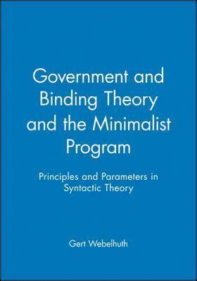 minimalist government government and binding theory and the minimalist program