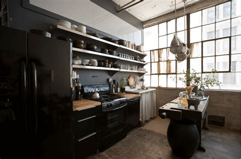 brooklyn loft ideas 31 black kitchen ideas for the bold modern home