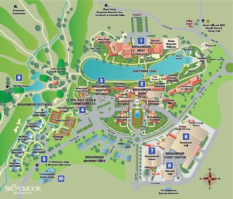 hotel map interactive interactive resort map at the broadmoor resort