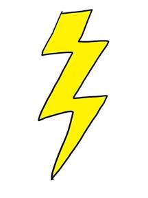 Of Lightning Bolt Drawing Of Lightning Bolt Clipart Best