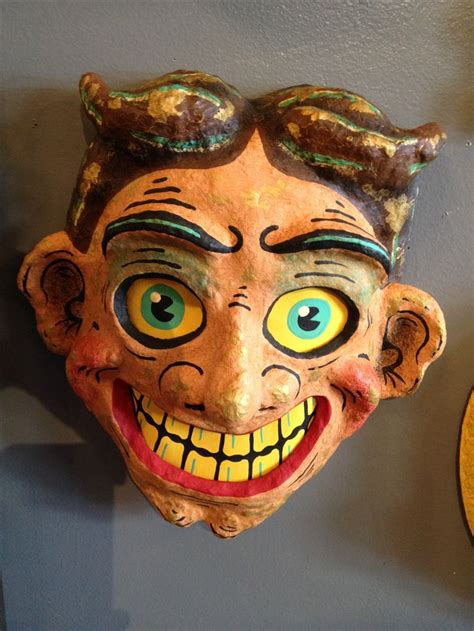 Paper Mache Mask - paper mache mask pop cycle by mam craft ideas