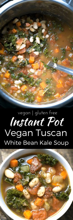 the ã å i my instant potã vegan recipe book from banana nut bread oatmeal to thyme polenta 175 easy and delicious plant based recipes i my series books instant pot vegan tuscan white bean kale soup pressure