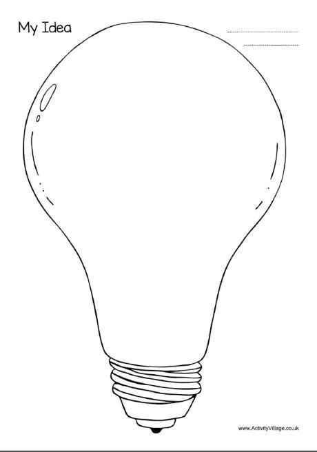 My Idea Light Bulb Template Blackline Masters Templates Patterns Pinterest Light Light Bulb Template Printable