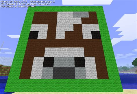 minecraft cow template cow pixel minecraft project