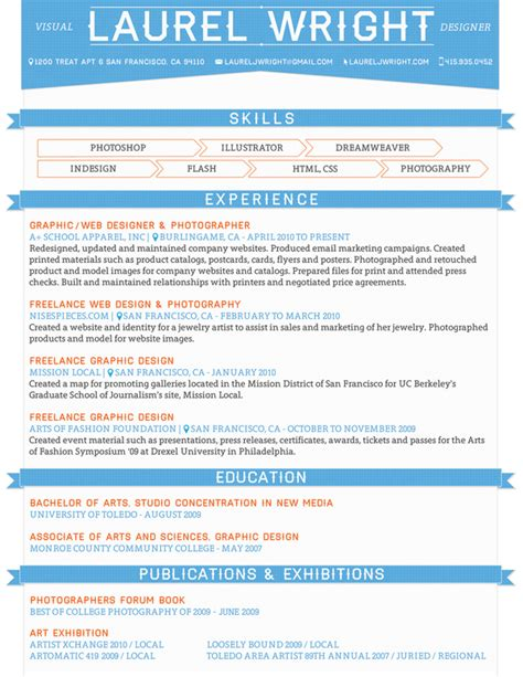how to wright resume 25 exles of creative graphic design resumes