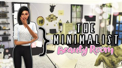 sims  room build minimalist beauty guru youtube