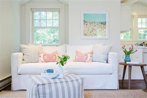 best white slipcovered sofa gray bound sisal rug design ideas