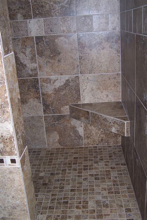 Tiled Walk In Shower No Door Walk In Shower Including Mount Wall Corner Shower Seating And Doorless Walk In Shower