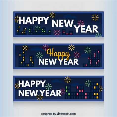 free vector new year banner blue new year banners vector free