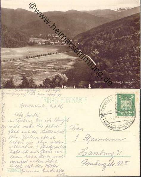 Postkarten Drucken Freiburg by Historische Ansichtskarten G 252 Nterstal