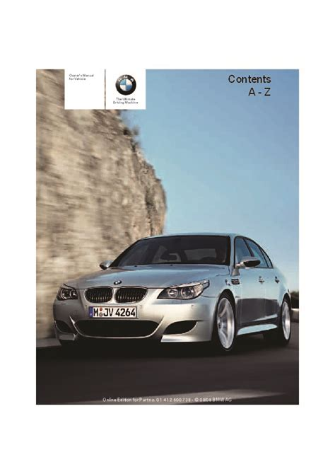 bmw owner 2009 bmw m5 owners manual