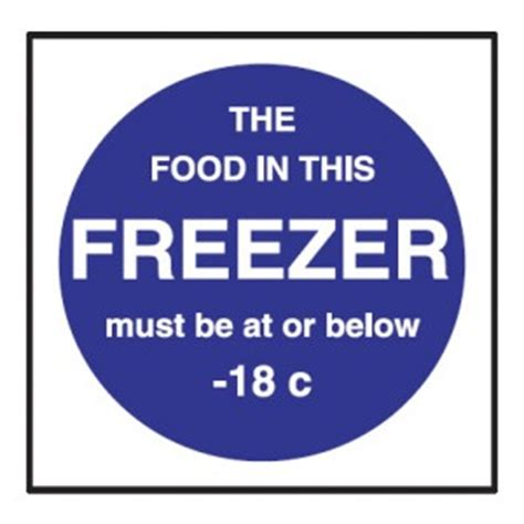 Ex Display Kitchen Cabinets by Freezer Temperature Sticker 100x100mm Stephensons