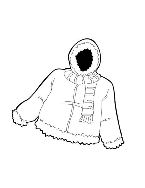 coloring pages of winter jackets winter jacket clipart free download best winter jacket