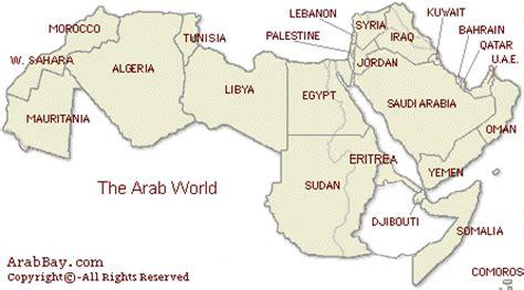 arabic map arab world map
