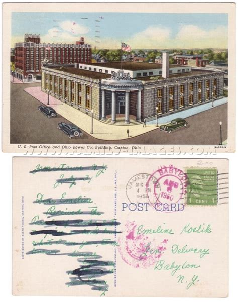 Canton Ohio Post Office by Family Images Historical Homepage Ohio Page