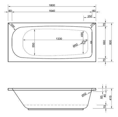 80 X 180 Matratze Günstig by Rechteck Badewanne 180 X 80 Cm Mit Wannentr 228 Ger Ablaufgarnitur