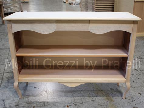 librerie in legno grezzo librerie grezze libreria consolle in legno grezzo