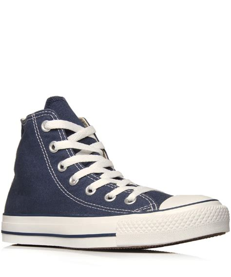 Converse Chuck Teylor High Navy lyst converse navy chuck all hi top trainers in blue for