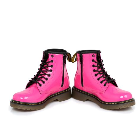 pink boots dr martens pink delaney leather boots sizes 10 2