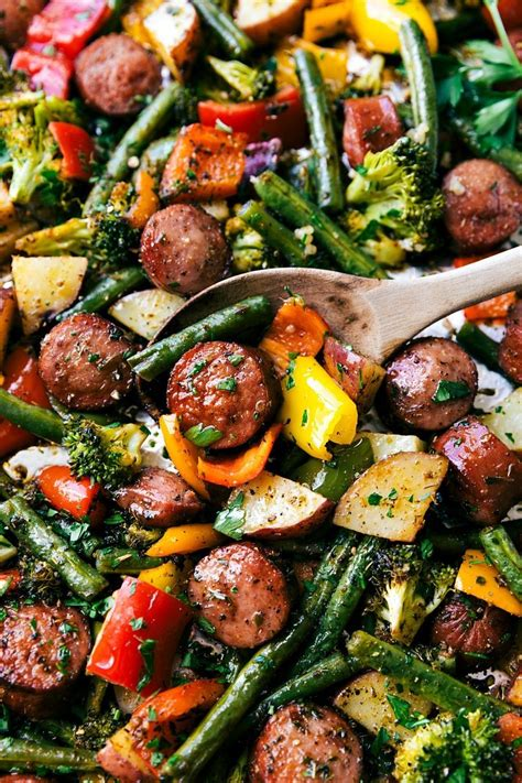 By Veggies sausage with vegetables recipe