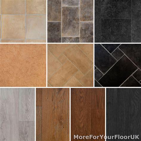 Tile & Wood Effect 3.8mm Vinyl Flooring Roll Quality Lino