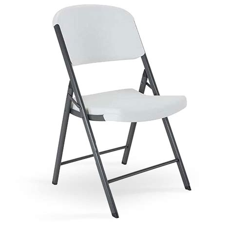 White Folding Chair by Lifetime Folding Chairs White Granite Model 2802 2804 From