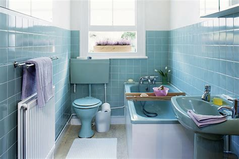 retro blue bathroom retro bathroom makeovers
