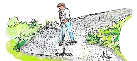 vialetti in ghiaia vialetto economico in ghiaia per il giardino