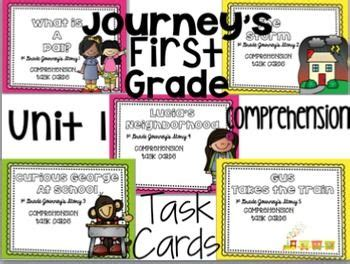 Journeys Gift Card Pin - journey s first grade unit 1 5 stories bundle comprehens journey s reading