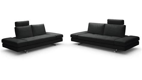 Bentley Sectional Leather Sofa Bentley Black Top Grain Leather Modern Sofa Set With Loveseat Zuri Furniture