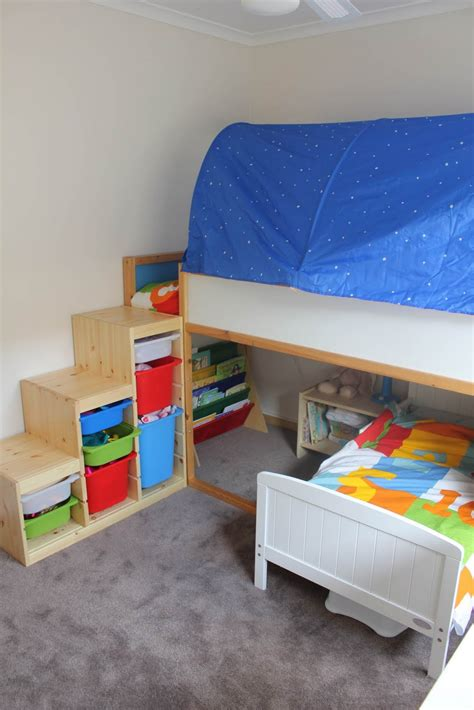 diy ikea loft bed mommo design ikea kura bed hacks