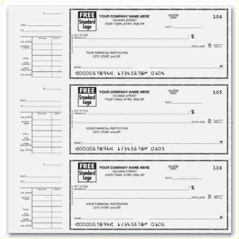 template of a check free check stub template printables template business