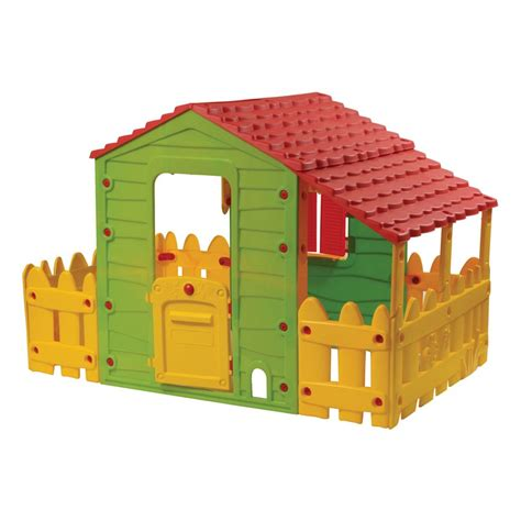 backyard buddies toys farm playhouse with a porch and a fence bot 1180 buddy toys