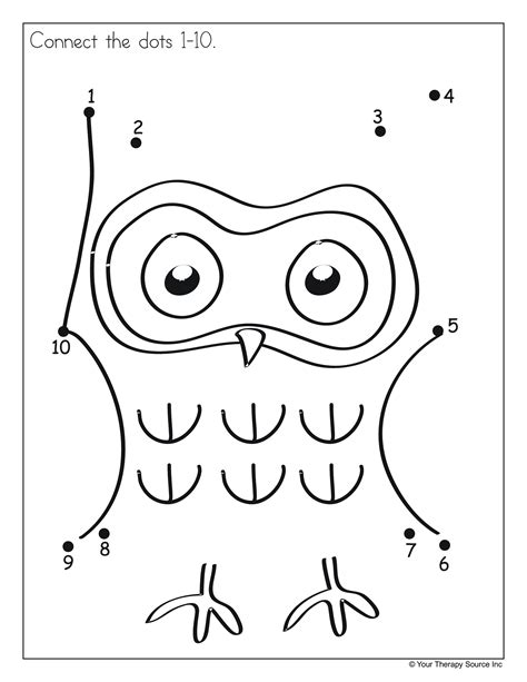 free printable dot to dot up to 10 dot to dot 1 10 and 1 20 freebies your therapy source