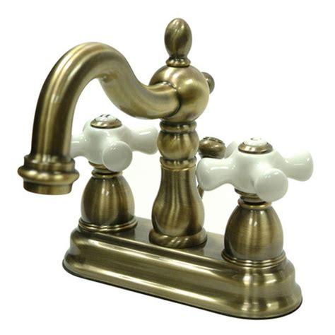 bathroom faucet antique brass kingston brass 4 in centerset 2 handle bathroom faucet in vintage brass hkb1603px