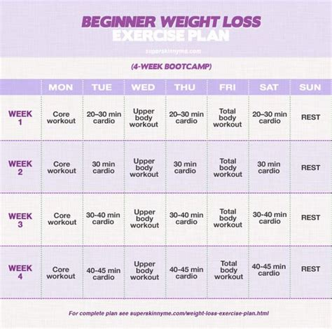 beginner weight loss exercise plan website has