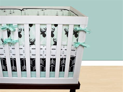 deer crib bedding set deer crib bedding baby boy bedding cribset mint black and