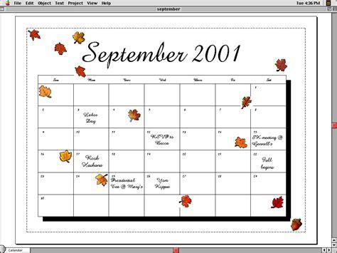 Calendar For 2001 2001 Calendar