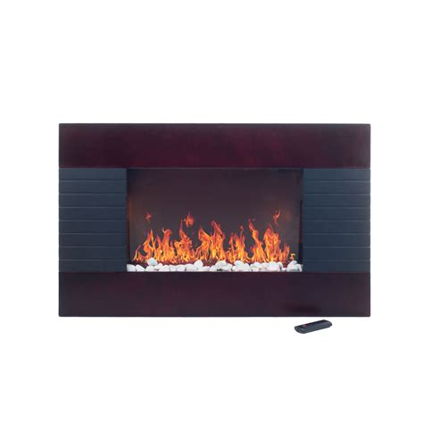 even glow electric fireplace heater remote mahogany