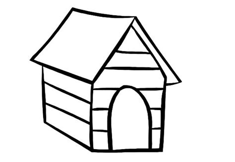 dog house outline doghouse coloring pages