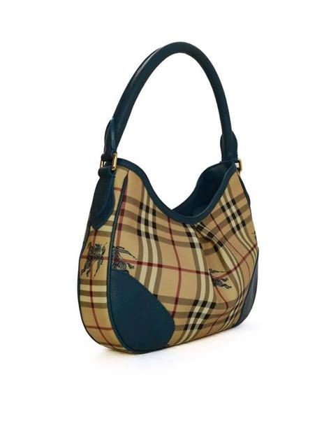 Burberry Plaid Shoulder Bag by Burberry Plaid And Teal Shoulder Bag With Ghw For
