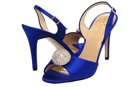 Blue Satin Wedding Shoes by Midnight Blue Satin Wedding Shoes By Kate Spade Onewed