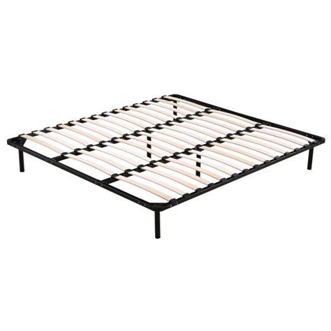 Slatted Bed Base King King Size Wooden Slatted Metal Bed Base In Black Buy 30 50 Sale
